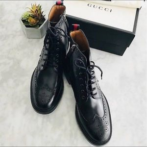 Gucci Wingtip boots size 10.5
